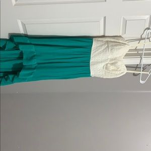 Beautiful Teal and Cream High Low dress